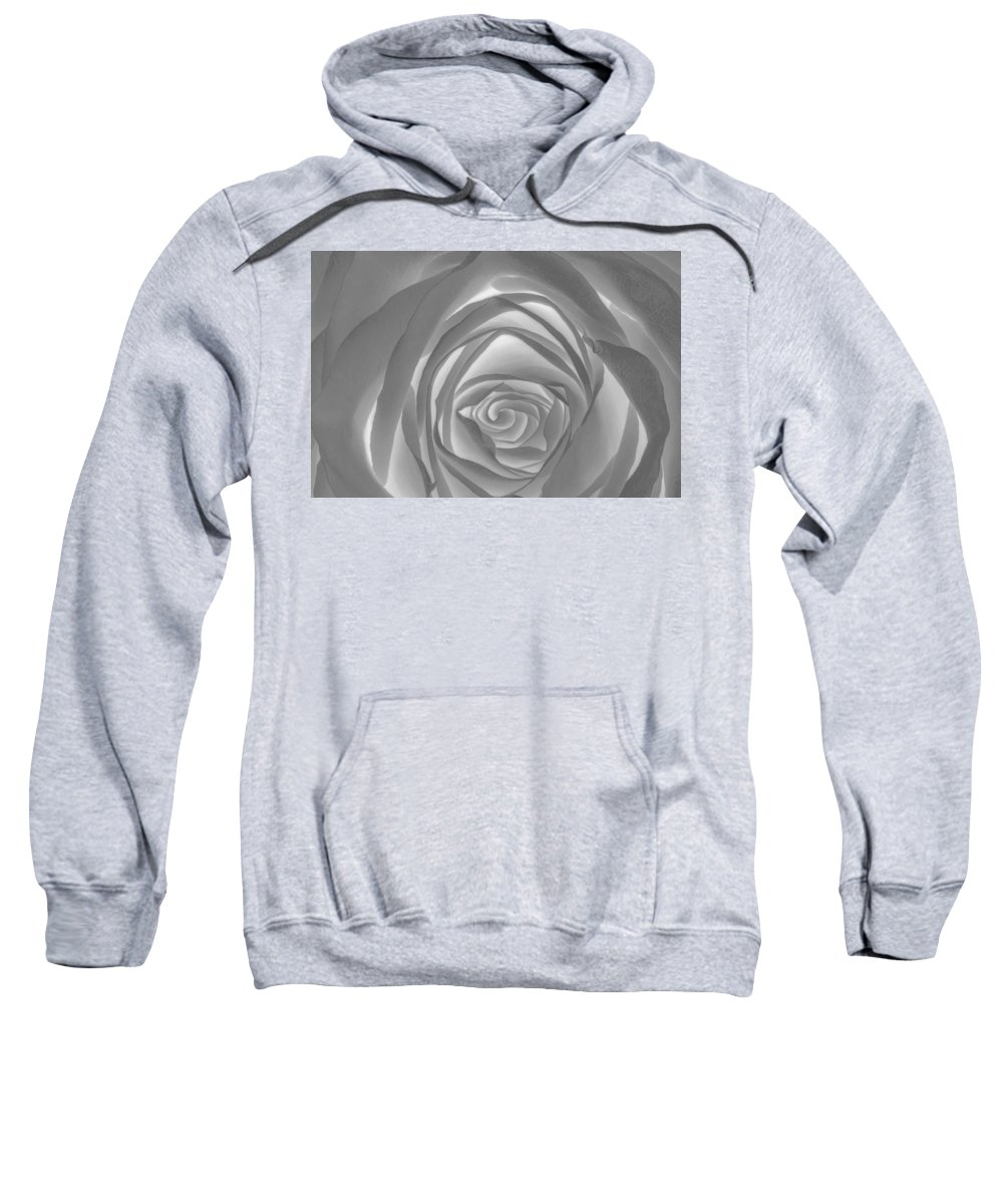 2012 Sweatshirt featuring the photograph Shadowless Rose - 26789 by David R Mann