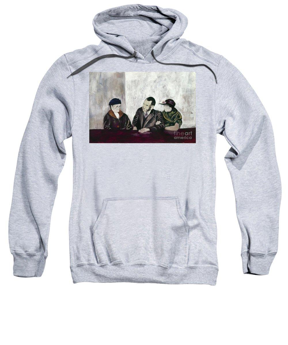 20th Century Sweatshirt featuring the photograph Shahn: Man & Women by Granger