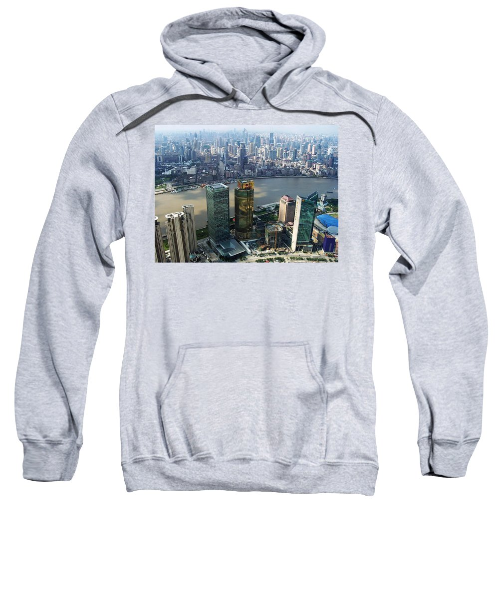China Sweatshirt featuring the photograph Shanghai By The River by Debbie Oppermann