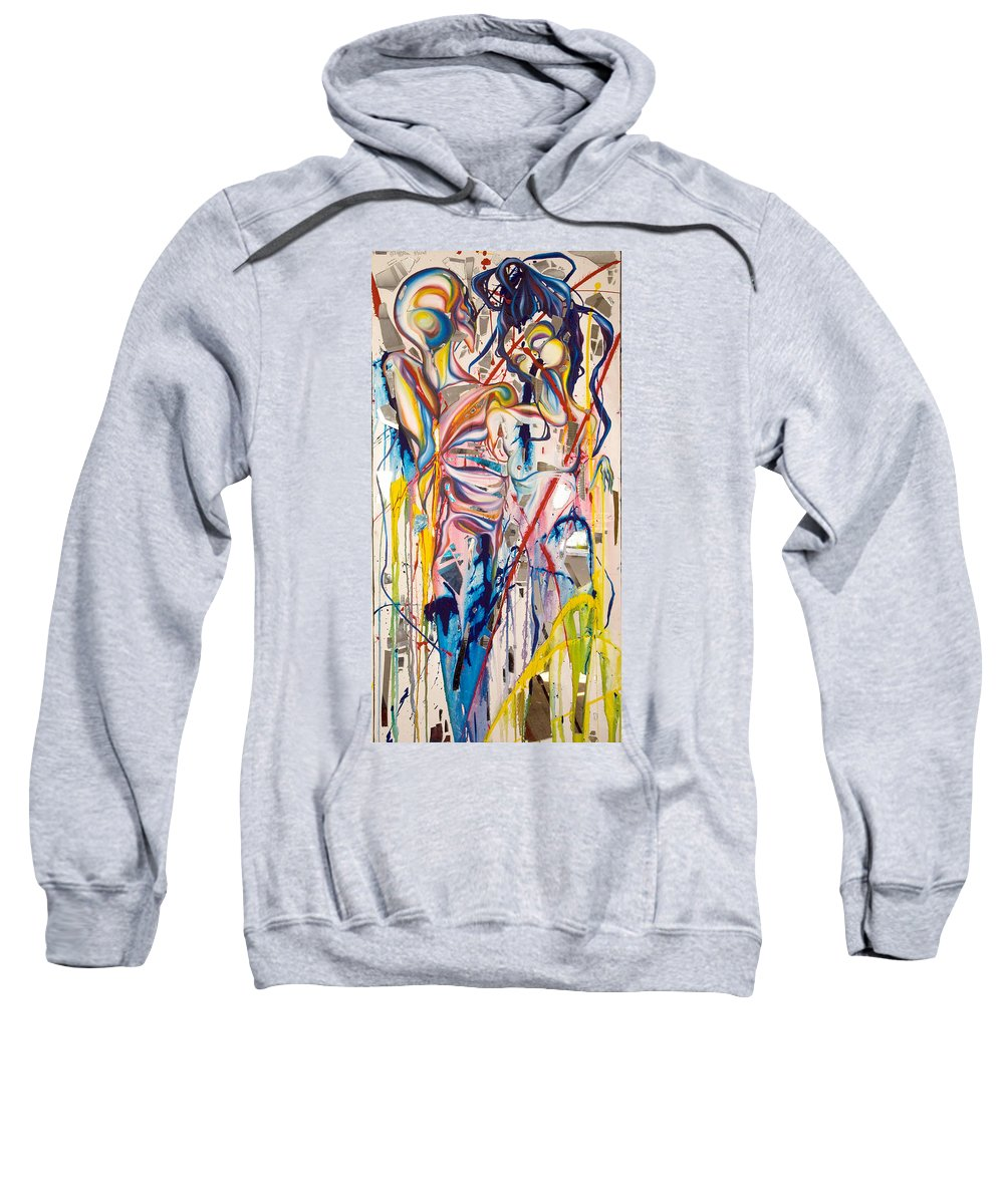 Abstract Sweatshirt featuring the painting Shards by Sheridan Furrer