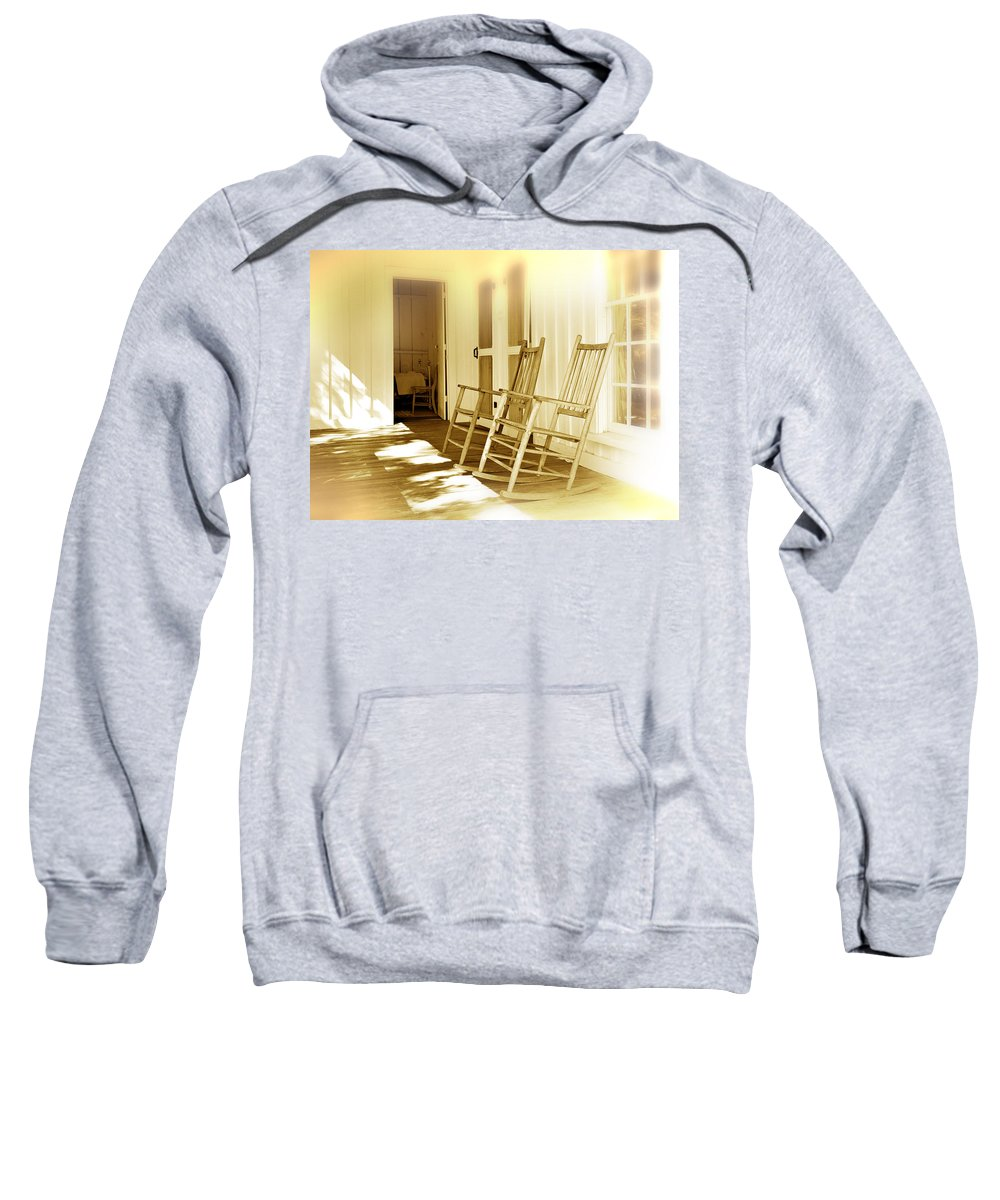 Porch Sweatshirt featuring the photograph Shared Moments by Mal Bray