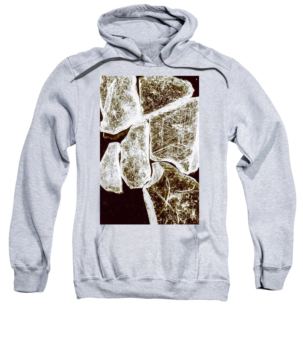 Damage Sweatshirt featuring the photograph Shattering Shards by Jorgo Photography - Wall Art Gallery