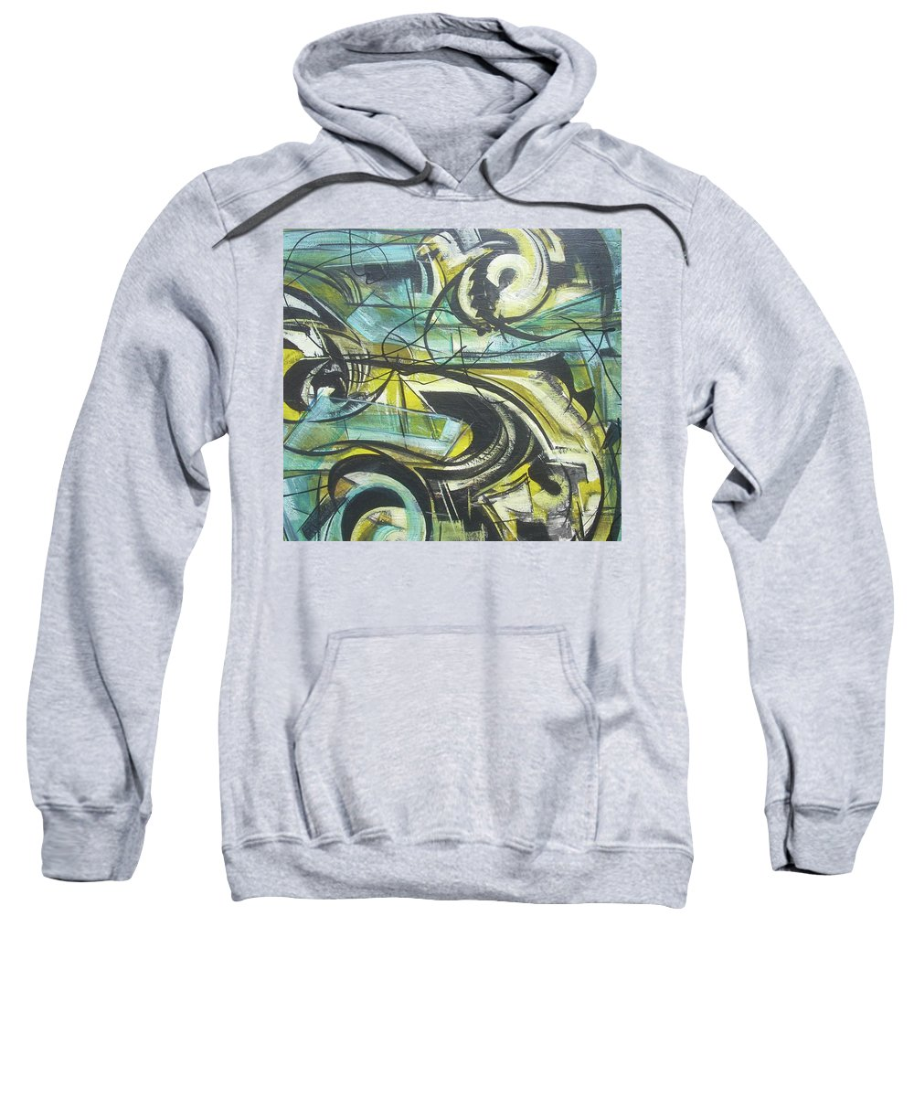 Beautiful Sweatshirt featuring the painting She Moves Me Vol1 by Hasaan Kirkland