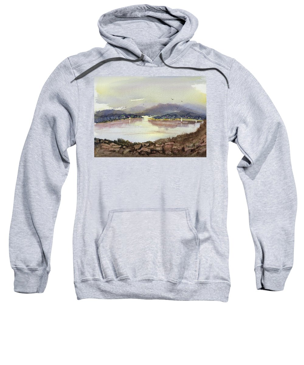 Seaport Sweatshirt featuring the painting Sheets Aloft by Barry Jones