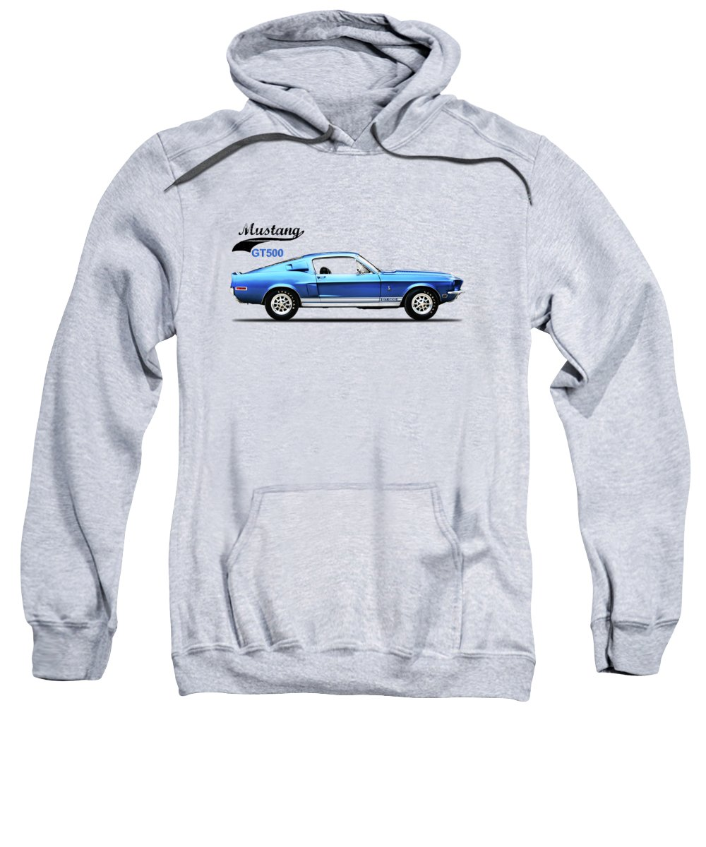 Ford Mustang Sweatshirt featuring the photograph Shelby Mustang Gt500 1968 by Mark Rogan