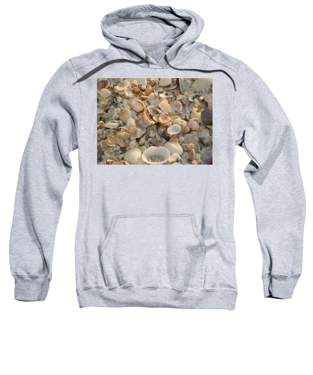 Beach Sweatshirt featuring the photograph Shells On Beach by Alice Markham