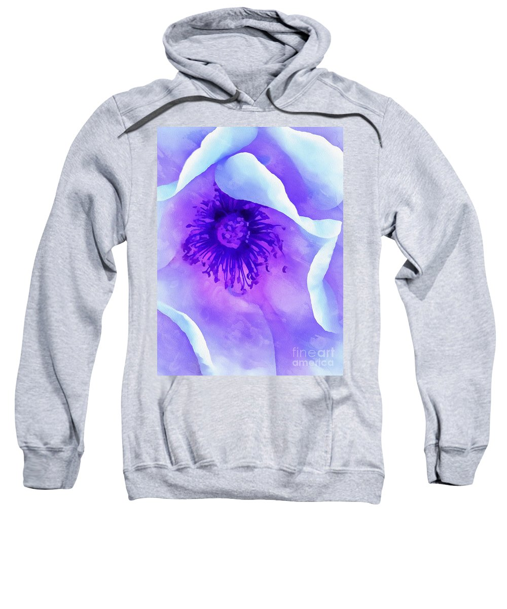 Rose Sweatshirt featuring the photograph Sheltered by Krissy Katsimbras