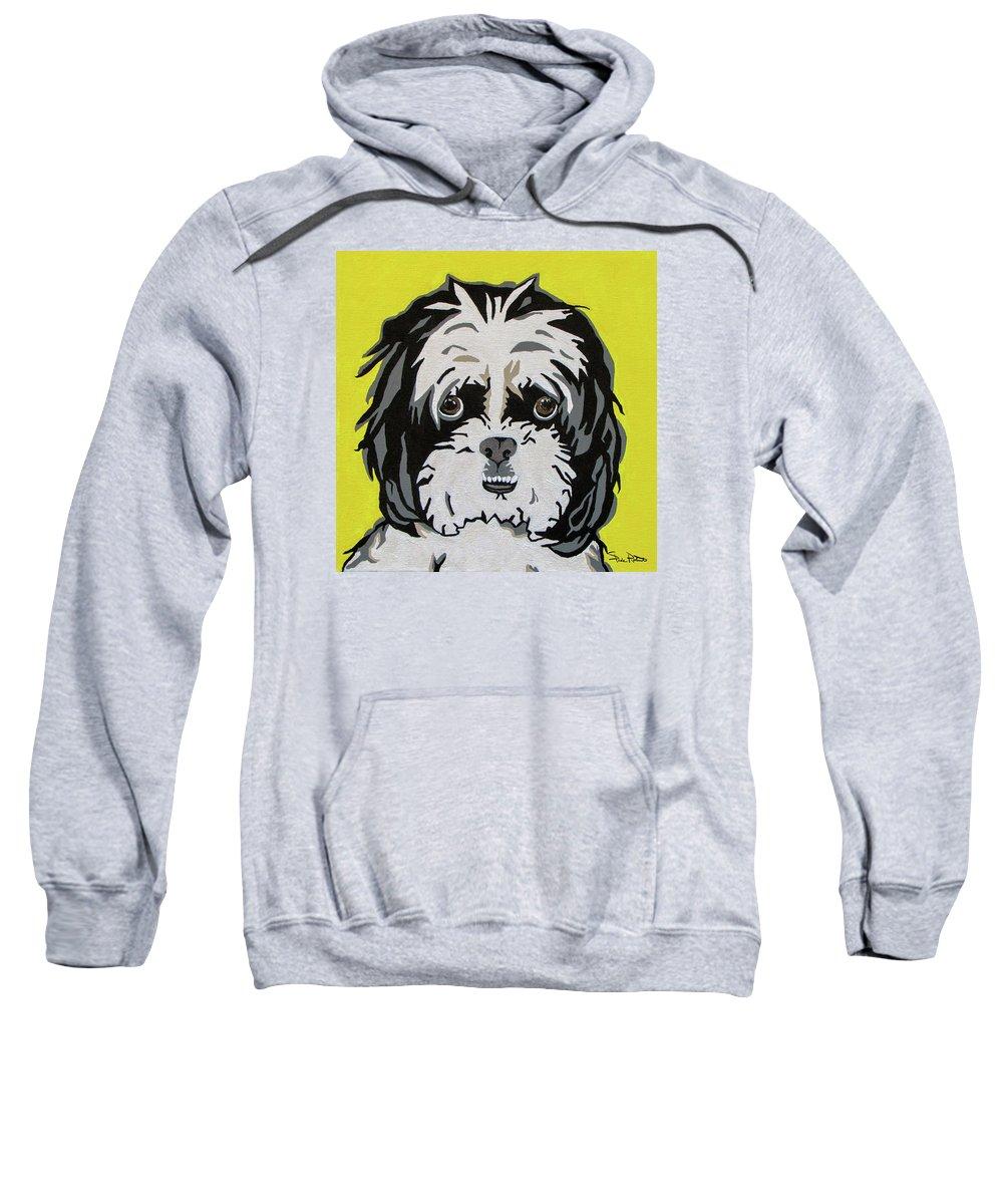 Shih Tzu Sweatshirt featuring the painting Shih Tzu by Slade Roberts