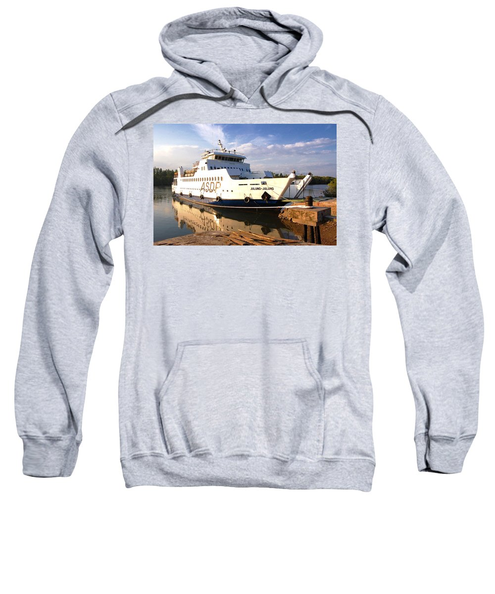 Sweatshirt featuring the photograph Ship by Charuhas Images