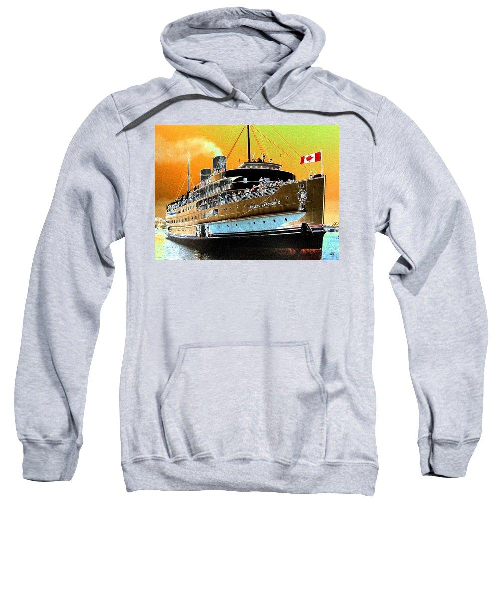 Princess Marguerite Sweatshirt featuring the digital art Shipshape 6 by Will Borden