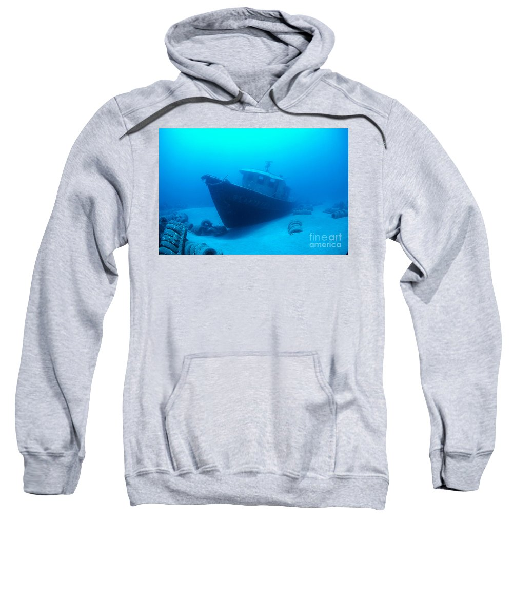 Anthony Sweatshirt featuring the photograph Shipwreck by Dave Fleetham - Printscapes