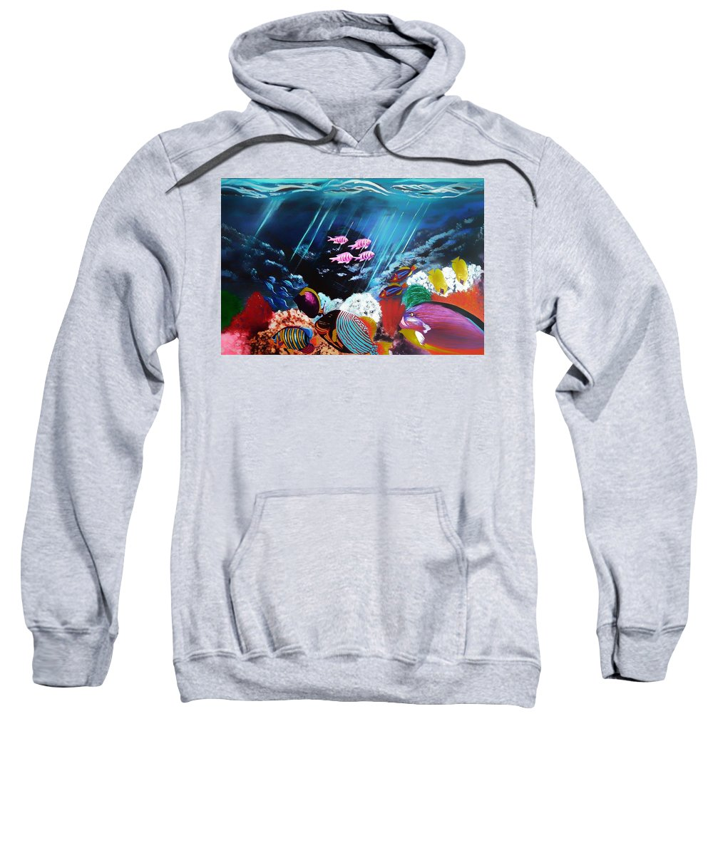 Sweatshirt featuring the painting Shipwrecked by Joel Cafiero