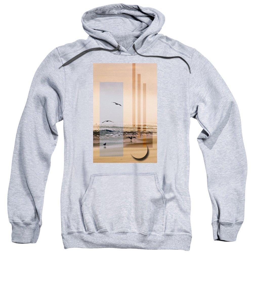 Abstract Sweatshirt featuring the photograph Shore Collage by Steve Karol