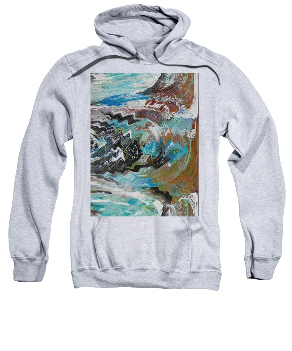Abstract Sweatshirt featuring the digital art Shoreline by Lenore Senior