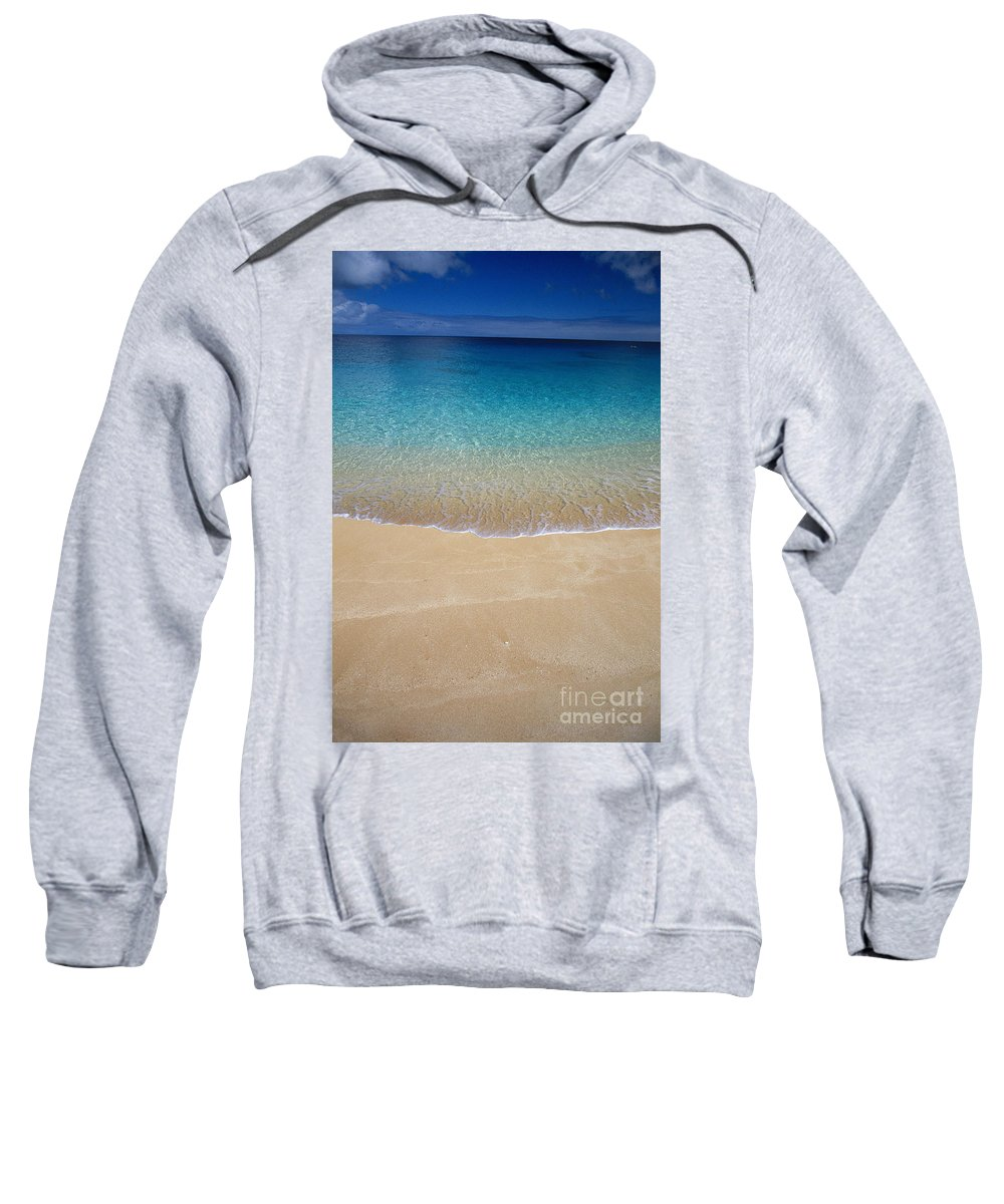 Abstract Art Sweatshirt featuring the photograph Shoreline To Horizon by Ali ONeal - Printscapes