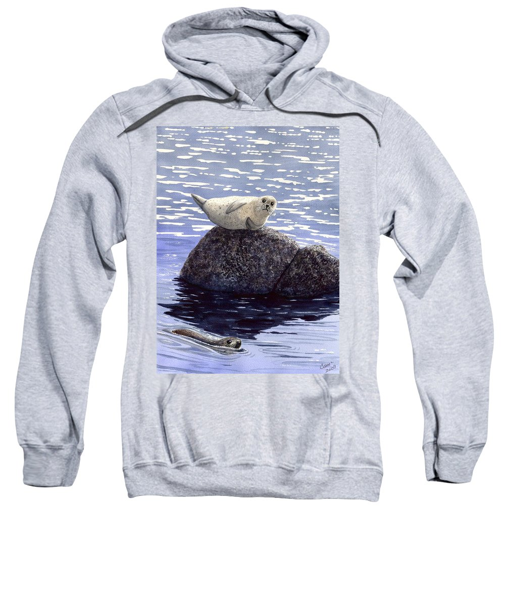 Seal Sweatshirt featuring the painting Show Off by Catherine G McElroy