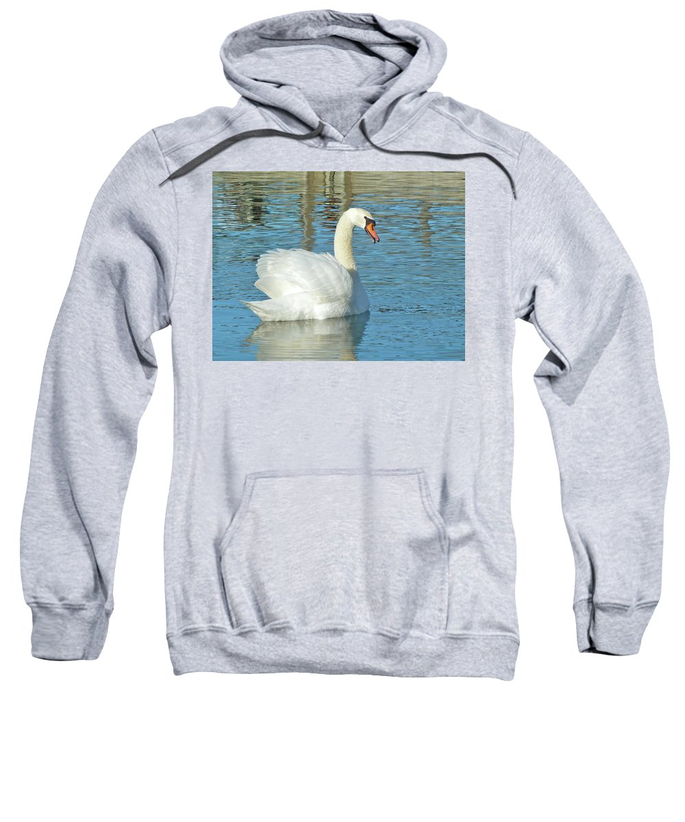 Swan Sweatshirt featuring the photograph Showing Off by Diana Hatcher
