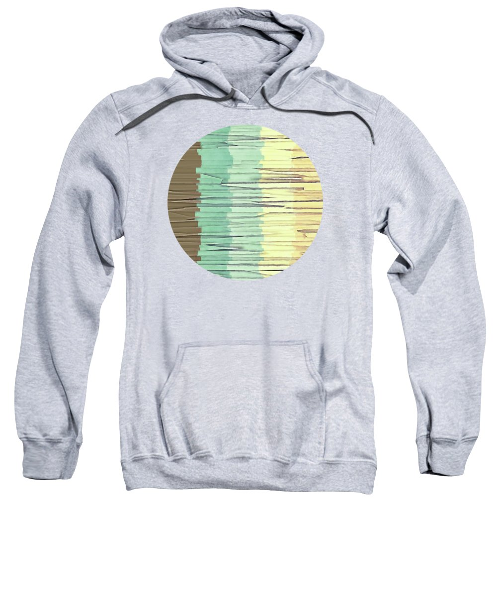 Graphic Design Sweatshirt featuring the digital art Shreds Of Color 2 by Phil Perkins