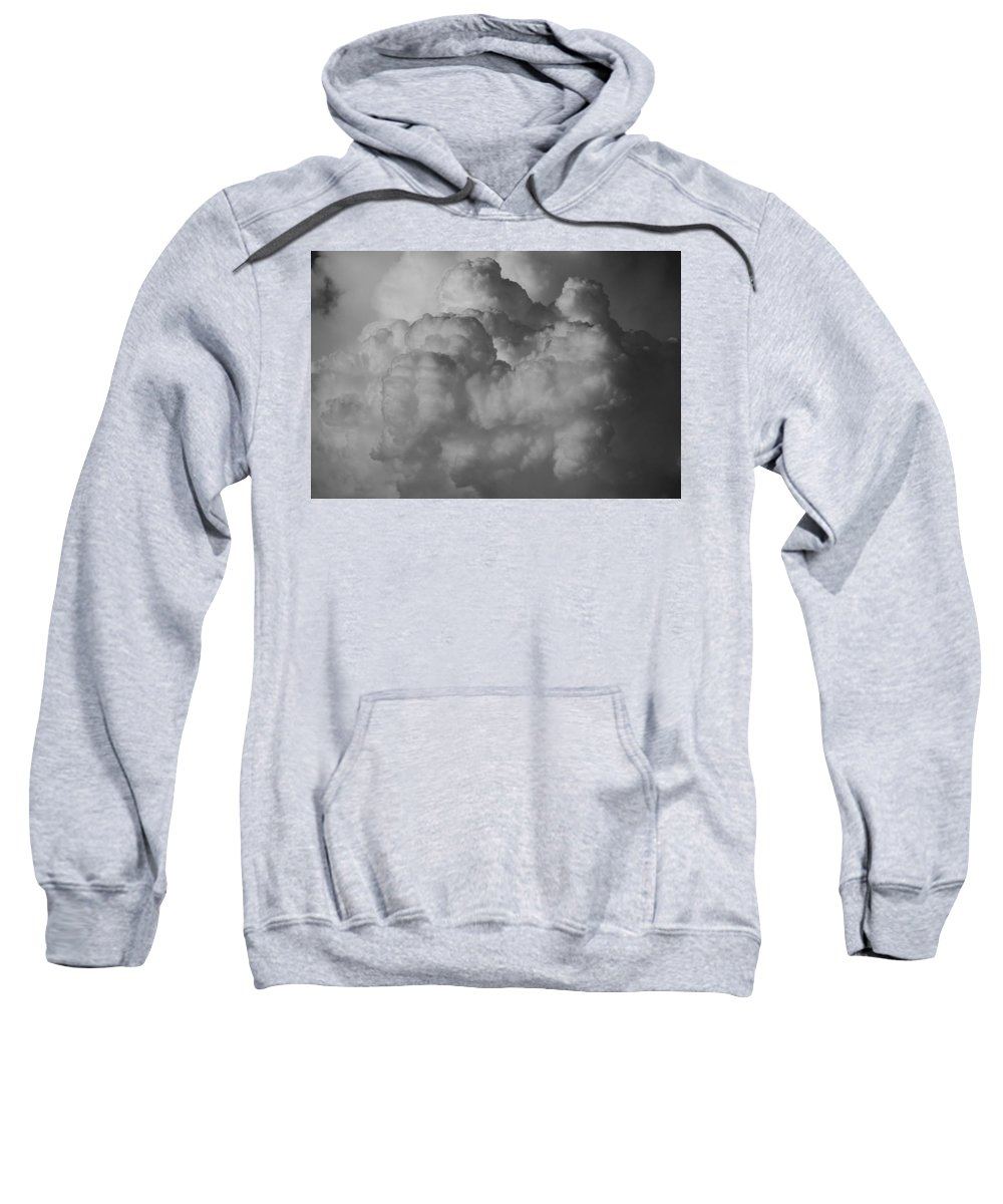Black And White Sweatshirt featuring the photograph Shrimp Clouds by Rob Hans