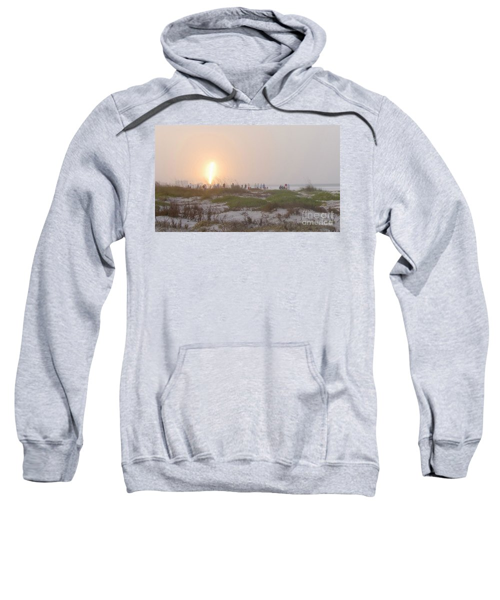 Shuttle Launch Sweatshirt featuring the photograph Shuttle Launch by David Lee Thompson