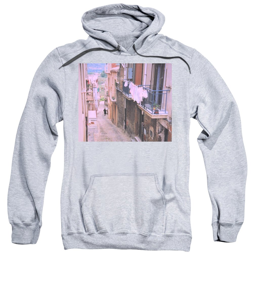 Sicily Sweatshirt featuring the photograph Sicily by Ian MacDonald