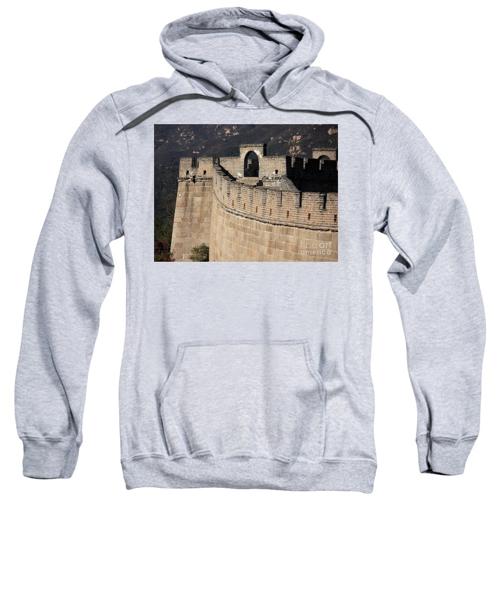 The Great Wall Of China Sweatshirt featuring the photograph Side View Of The Great Wall by Carol Groenen