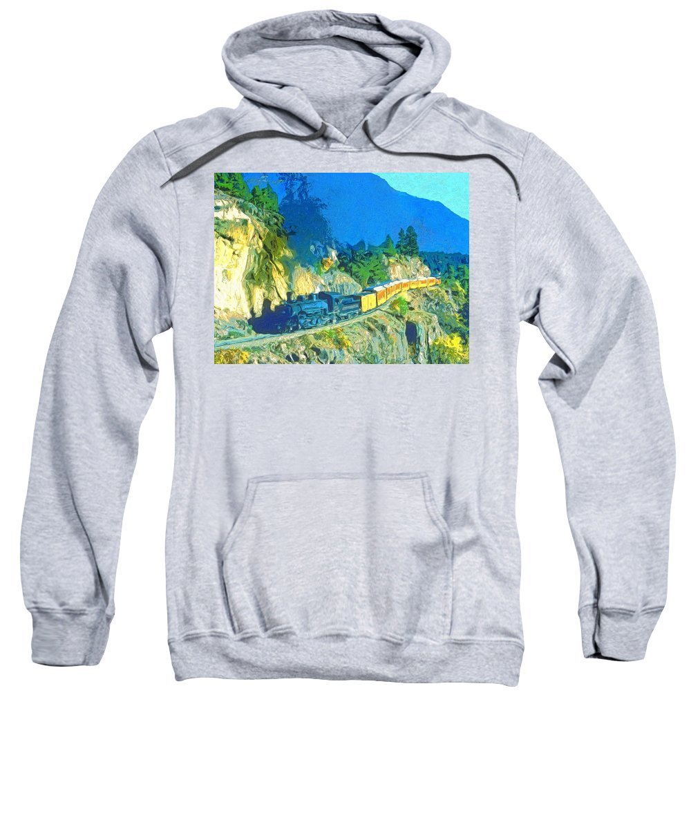Train Sweatshirt featuring the painting Sidewinder by Dominic Piperata