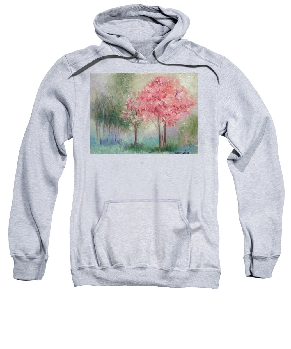 Spring Sweatshirt featuring the painting Sign Of Spring by Ginger Concepcion