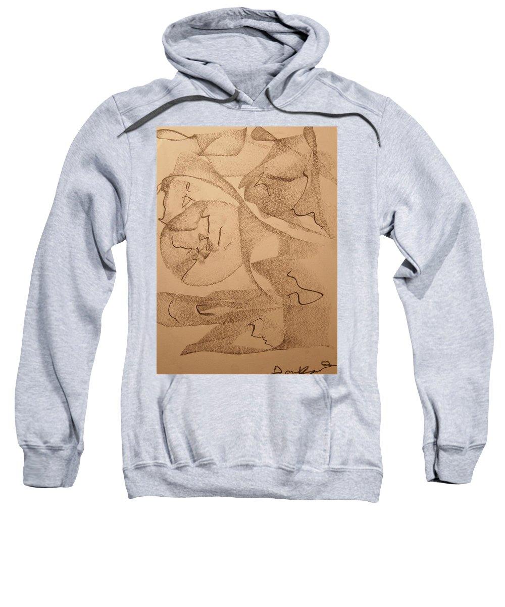 Abstract Sweatshirt featuring the drawing Signals by David Barnicoat