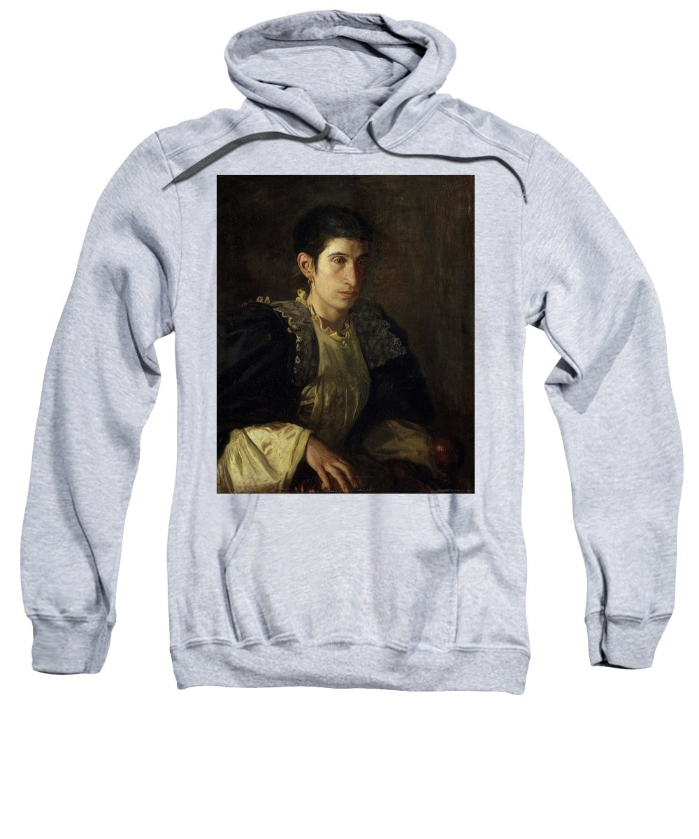 America Sweatshirt featuring the painting Signora Gomez D'arza by Thomas Eakins