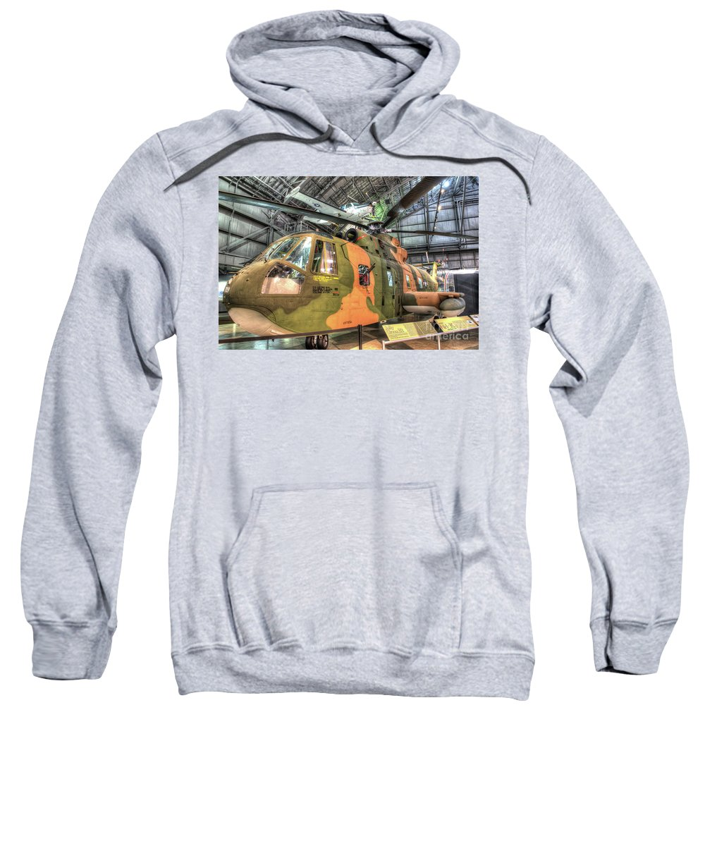 Dayton Sweatshirt featuring the photograph Sikorsky Hh-3 Jolly Green Giant by Greg Hager