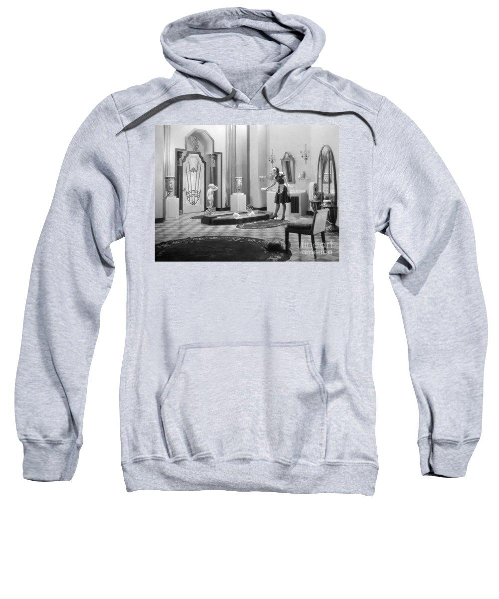 -bathing & Bathrooms- Sweatshirt featuring the photograph Silent Still: Bathtub by Granger