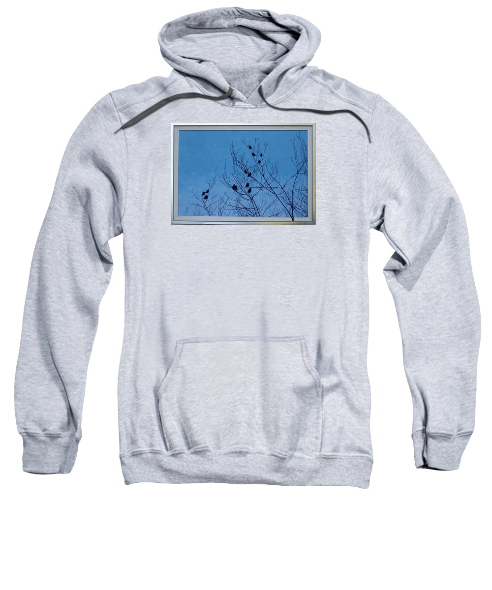 Birds Sweatshirt featuring the painting Silhouettes by Marianna Hoefle