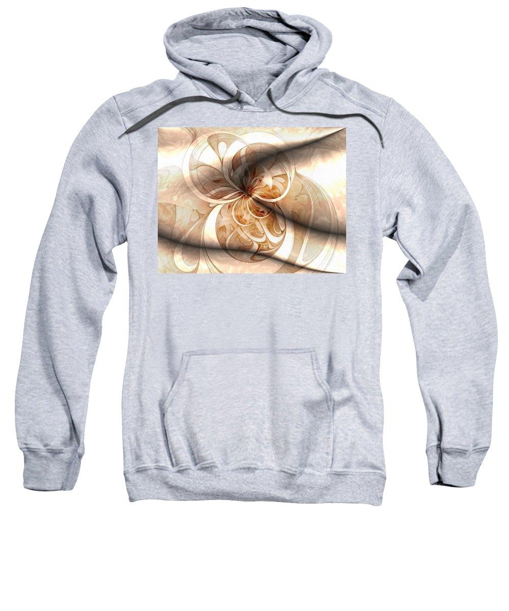 Digital Art Sweatshirt featuring the digital art Silk by Amanda Moore
