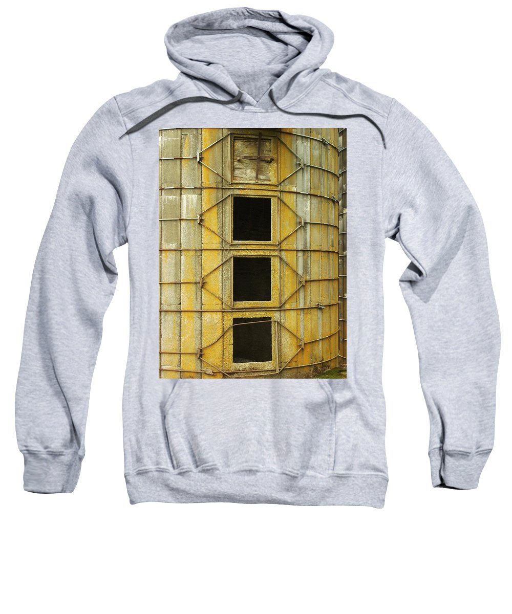 Silo Sweatshirt featuring the photograph Silo 2 by Sara Stevenson
