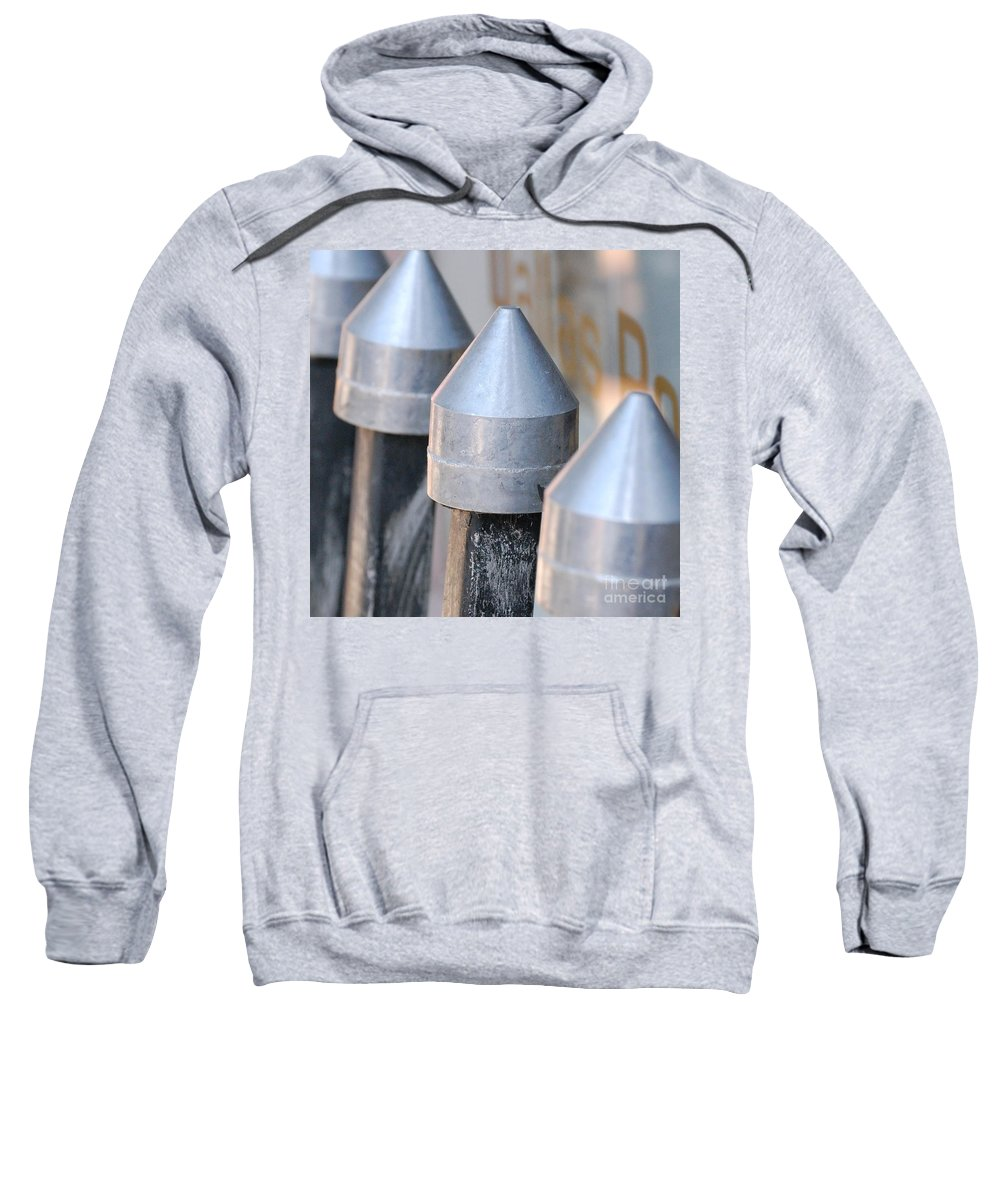 Gate Sweatshirt featuring the photograph Silver Bullets by Debbi Granruth