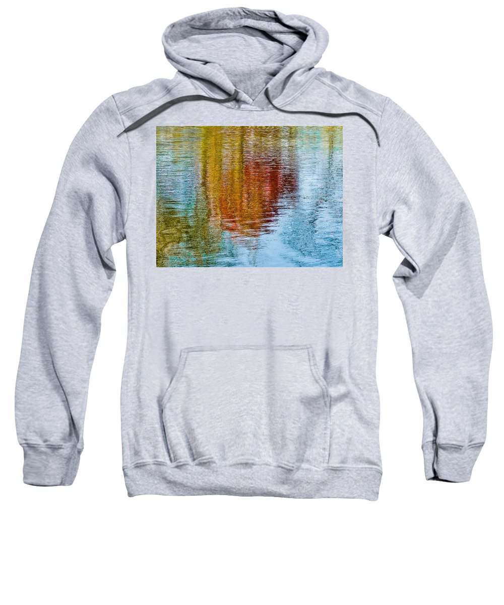 Silver Sweatshirt featuring the photograph Silver Lake Autumn Reflections by Michael Bessler