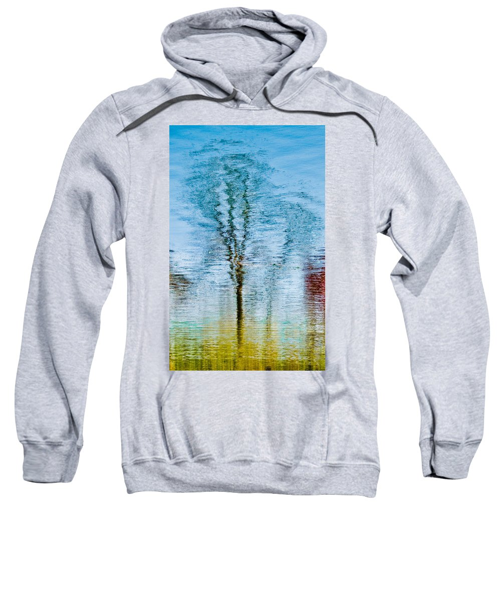 Silver Sweatshirt featuring the photograph Silver Lake Tree Reflection by Michael Bessler