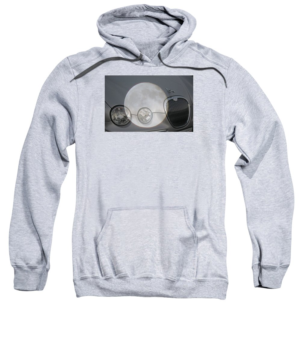 Car Sweatshirt featuring the photograph Silver Moon Jaguar by J R  Seymour