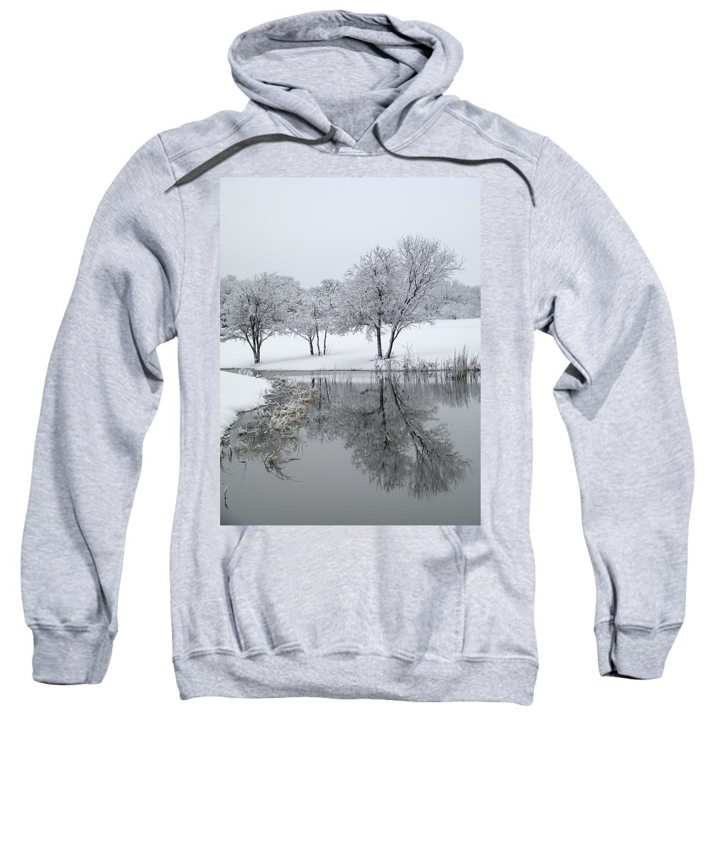 Pond Sweatshirt featuring the photograph Silver Morn by Gale Cochran-Smith