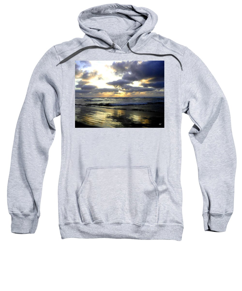 Sunset Sweatshirt featuring the photograph Silver Shores by Will Borden