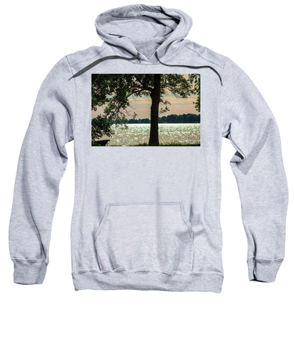 Olga Olay Sweatshirt featuring the photograph Silvery Sunset by Olga Olay
