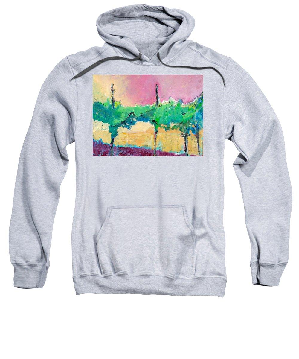 Vineyard Sweatshirt featuring the painting Simpatico by Kurt Hausmann