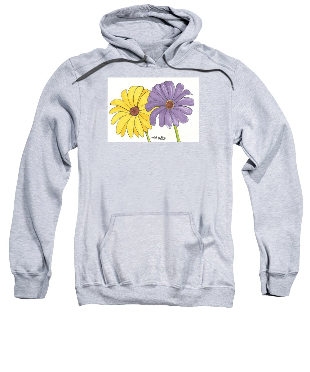 Flowers Sweatshirt featuring the drawing Simple Flower by Isabel Proffit
