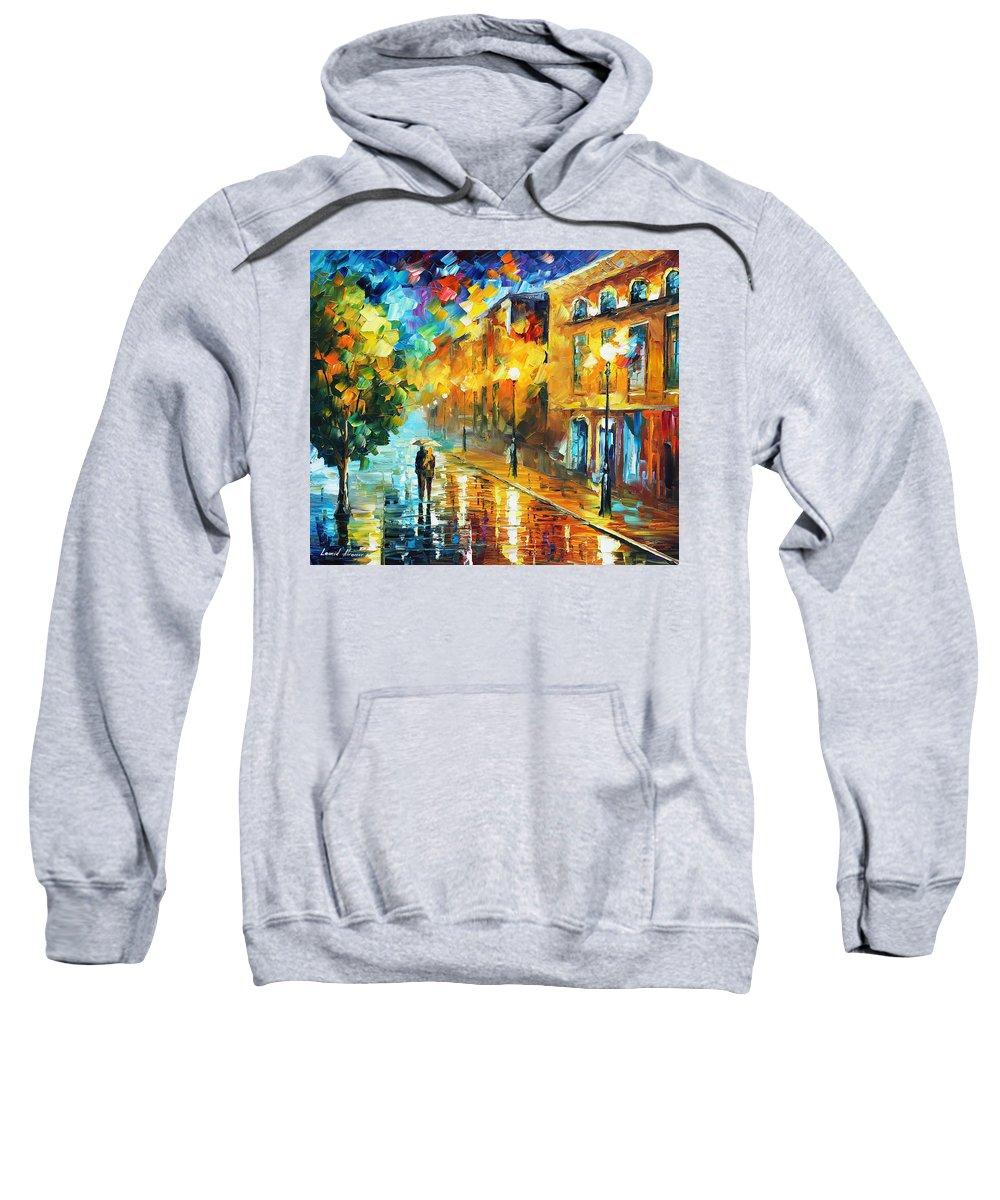 Afremov Sweatshirt featuring the painting Simple Life by Leonid Afremov