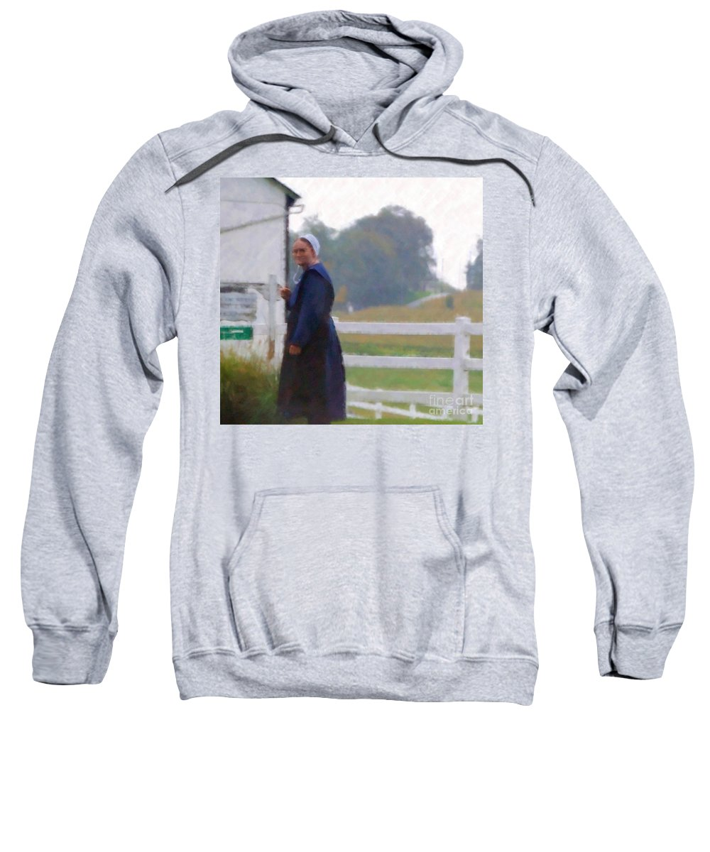 Amish Sweatshirt featuring the photograph Simple Living by Debbi Granruth