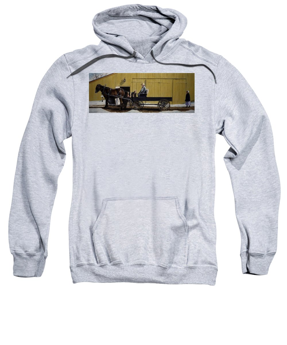 Landscape Sweatshirt featuring the painting Simple Pleasures by Denny Bond