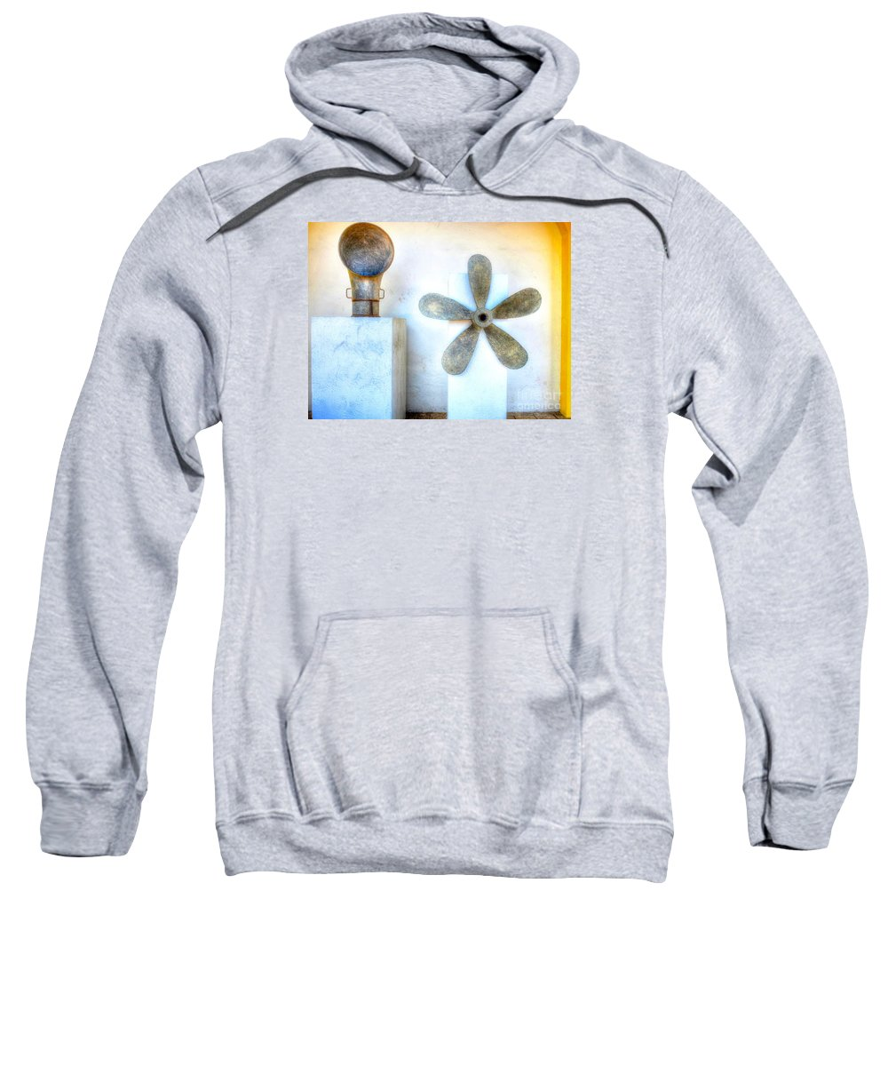 Fan Sweatshirt featuring the photograph Simple Sculptures by Debbi Granruth