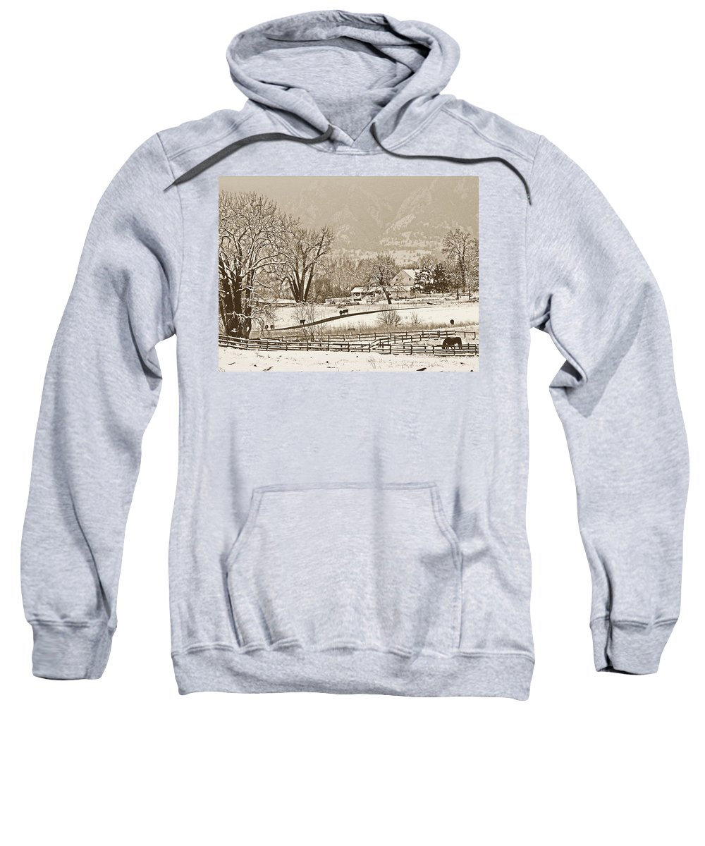 Landscape Sweatshirt featuring the photograph Simpler Times by Marilyn Hunt