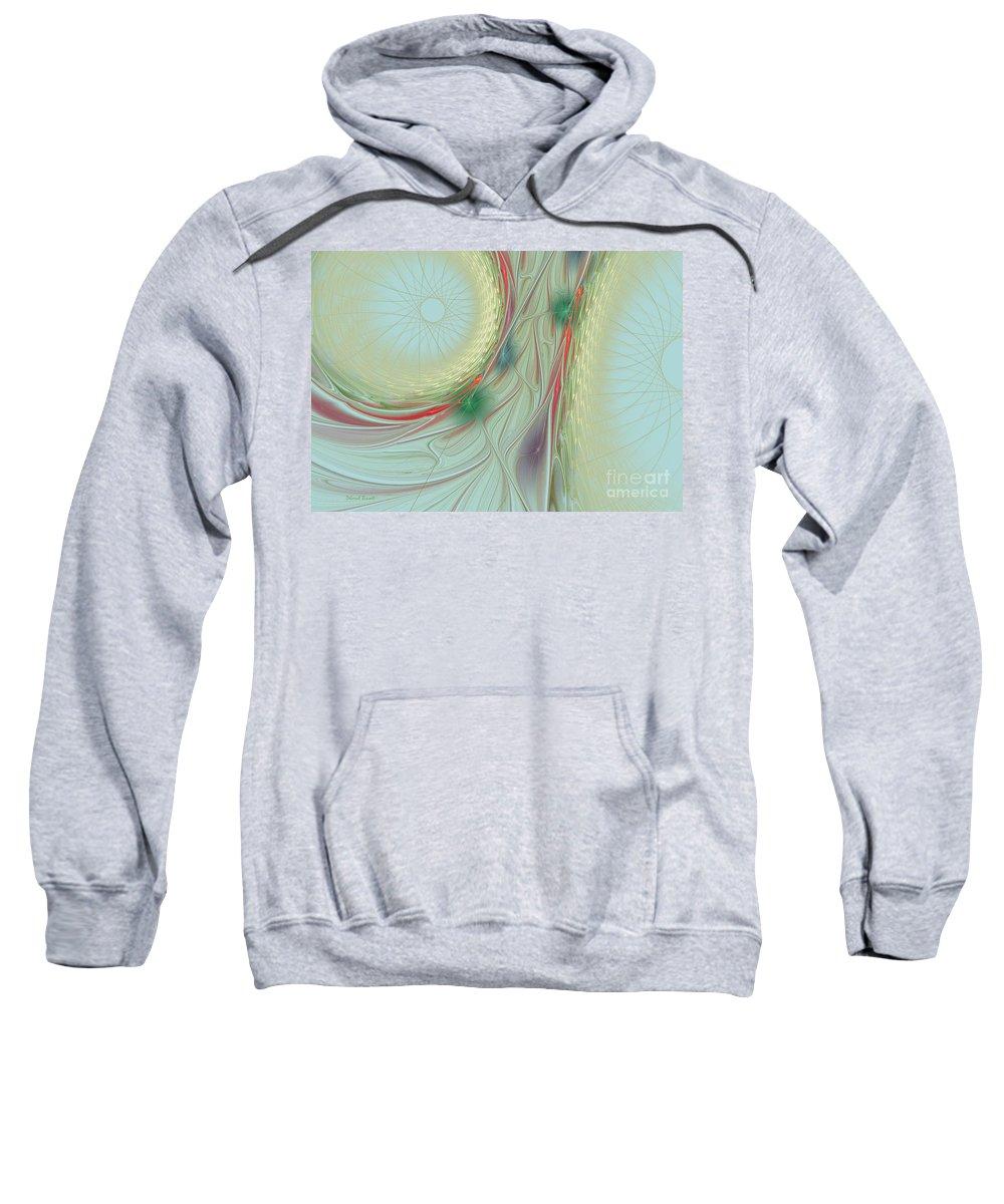 Spiral Sweatshirt featuring the photograph Singing The Blues by Deborah Benoit
